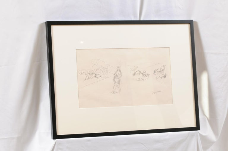 Jacques Villon - French Pastoral Scene - Lithograph For Sale 3