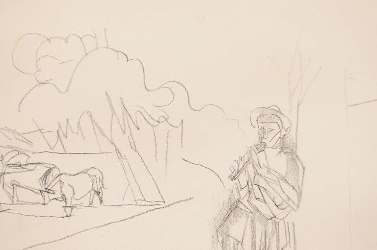 Jacques Villon - French Pastoral Scene - Lithograph For Sale 4