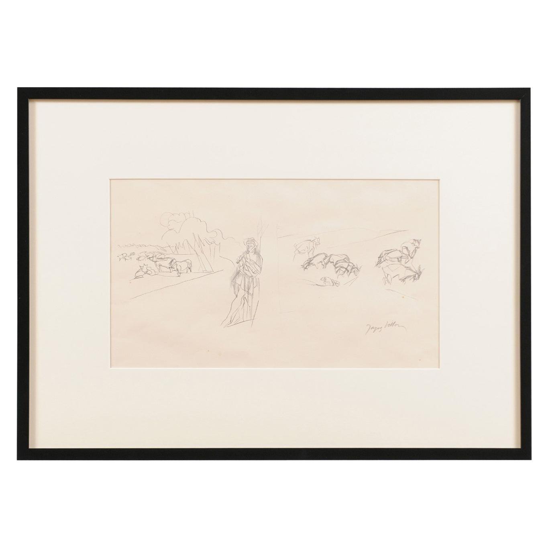 Jacques Villon - French Pastoral Scene - Lithograph