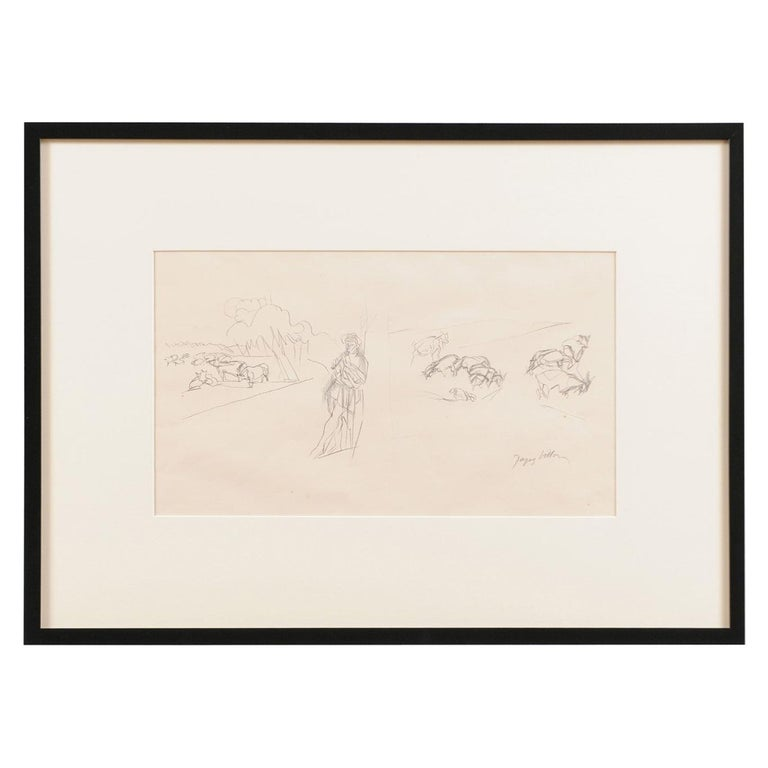 Jacques Villon - French Pastoral Scene - Lithograph For Sale