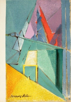 1964 Jacques Villon 'Intimite (intimacy)' Multicolor,Green France Lithograph