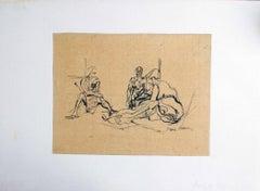 Avant le Bain - 1920s - Jacques Villon - China Ink - Modern
