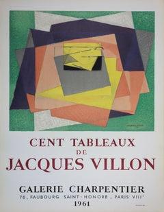 """Exhibition poster """"Cent Tableaux de Jacques Villon"""""""