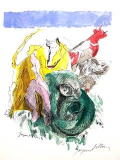 Jacques Villon - Colorful Spirit - Handsigned Original Lithograph