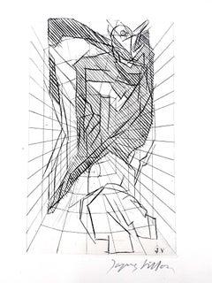 Jacques Villon - Cubist Cavern - Original Etching