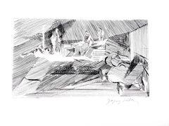 Jacques Villon - Cubist Landscape  - Original Etching