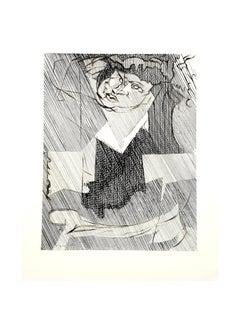 Jacques Villon - Cubist Man - Original Etching