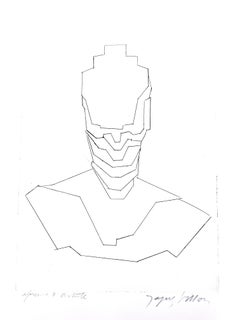 Jacques Villon - Helmet  - Original Etching