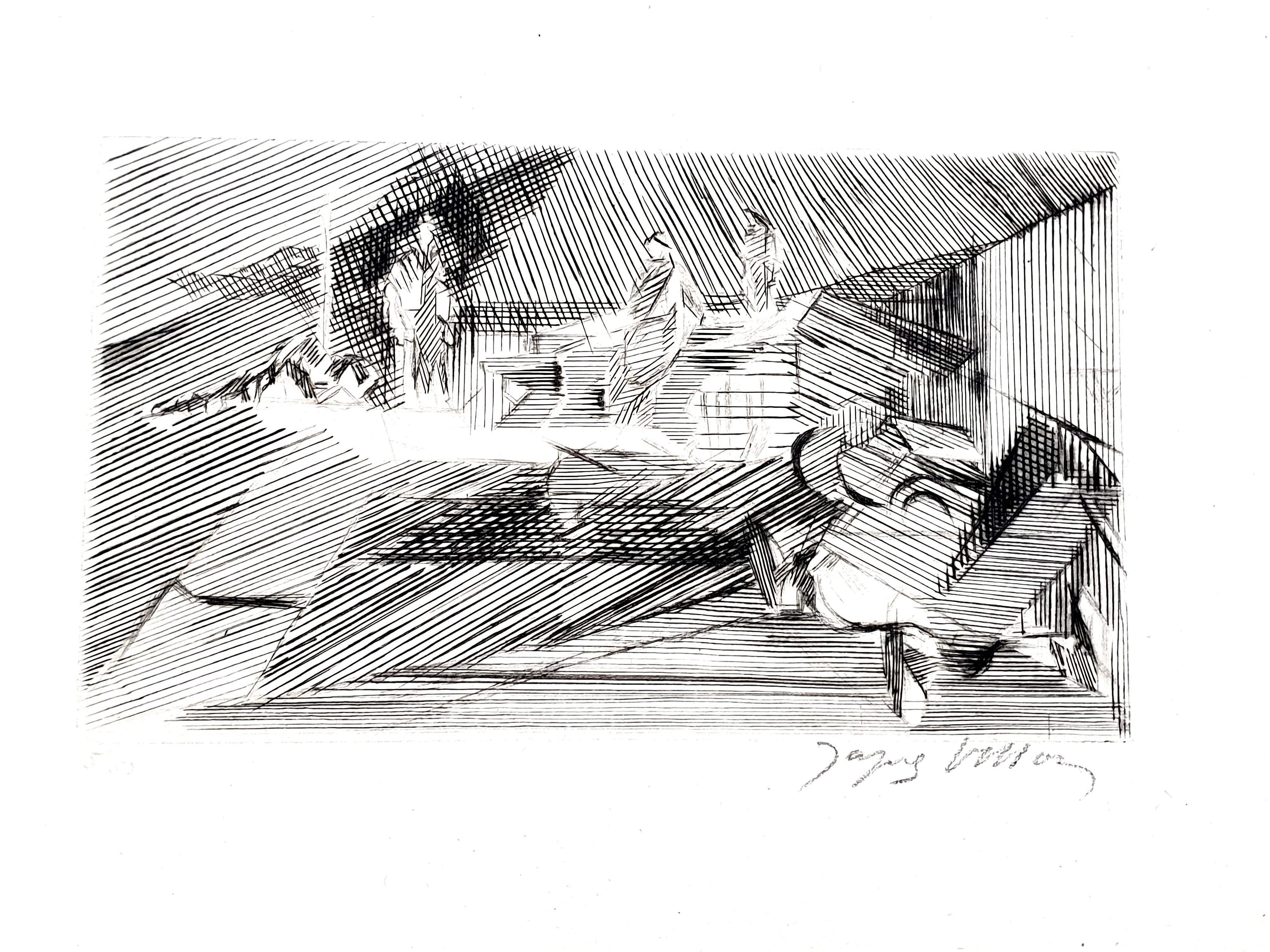 Jacques Villon - Landscape - Original Etching