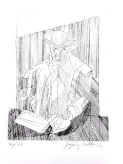 Jacques Villon - Man - Original Etching