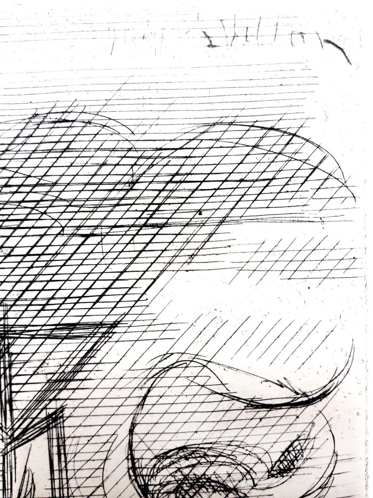 Jacques Villon - Surreal Cubism - Original Etching - Modern Print by Jacques Villon