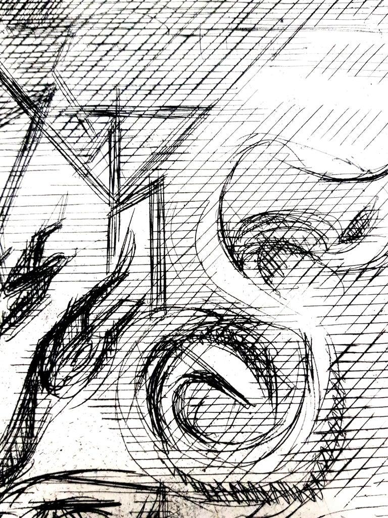 Jacques Villon - Surreal Cubism - Original Etching Paris, Le Gerbier, 1946 Edition of 340  Jacques Villon (1875 - 1963)  Jacques Villon was born Gaston Duchamp on July 31, 1875, in Damville, Normandy. His family is one of remarkable artistic repute;