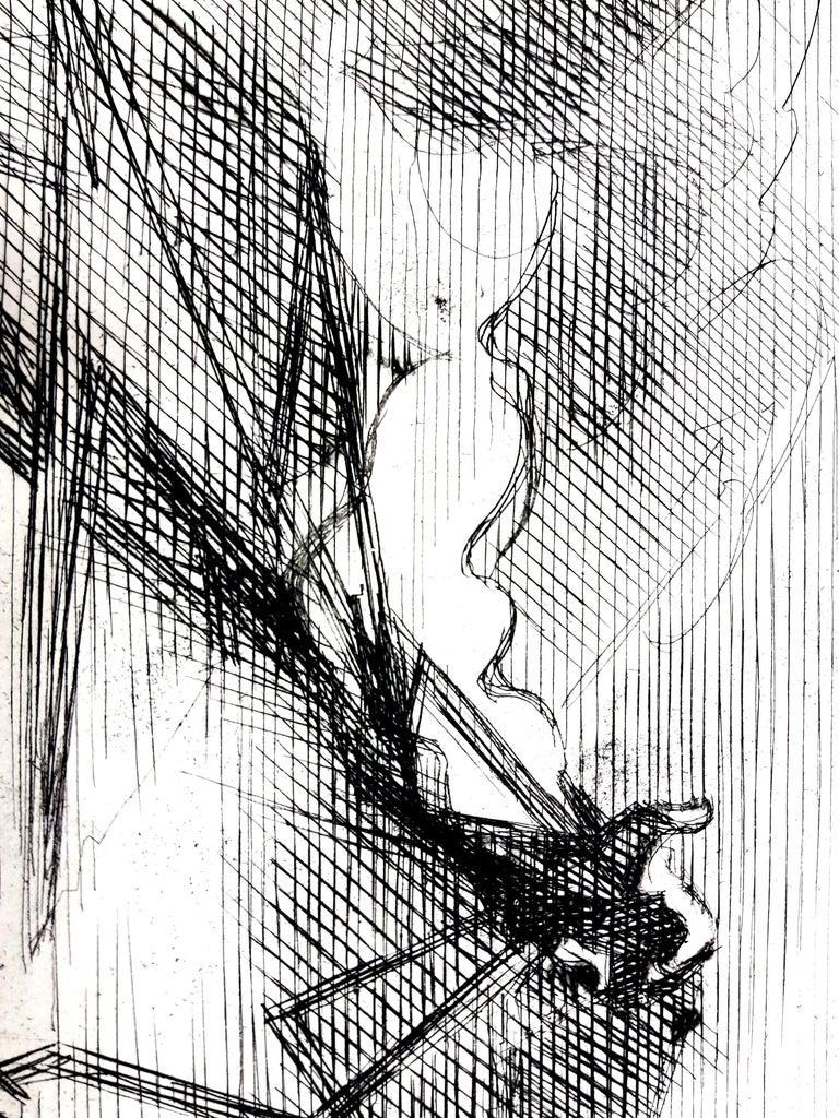 Jacques Villon - Surreal Cubism - Original Etching For Sale 1