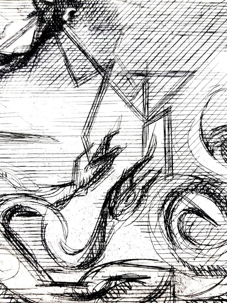Jacques Villon - Surreal Cubism - Original Etching For Sale 2