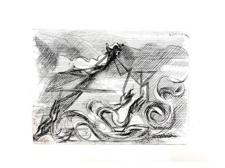 Jacques Villon - Surreal Cubism - Original Etching For Sale 5