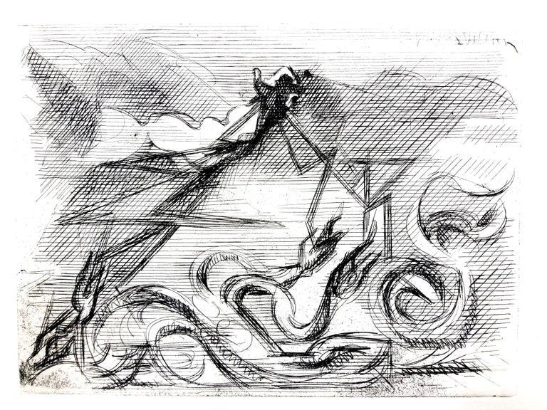 Jacques Villon - Surreal Cubism - Original Etching - Print by Jacques Villon