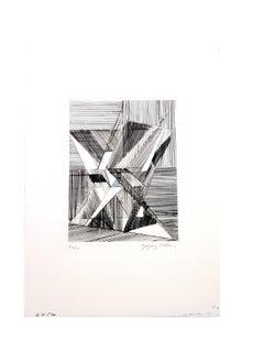 Jacques Villon - Two Cubist Vases - Original Etching