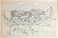 Labourage à la brunie - 1940s - Jacques Villon - Original Drawing - Modern