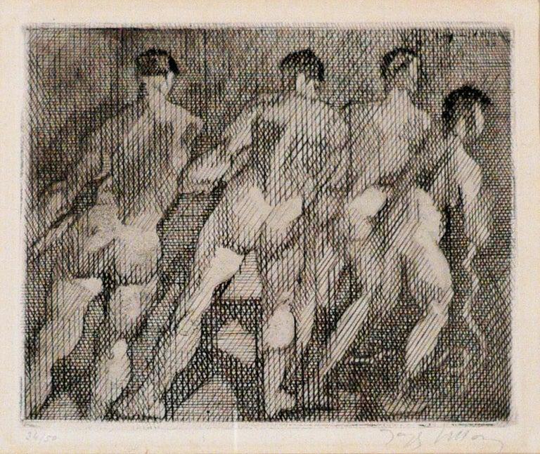 Jacques Villon Figurative Print - LES HALEURS