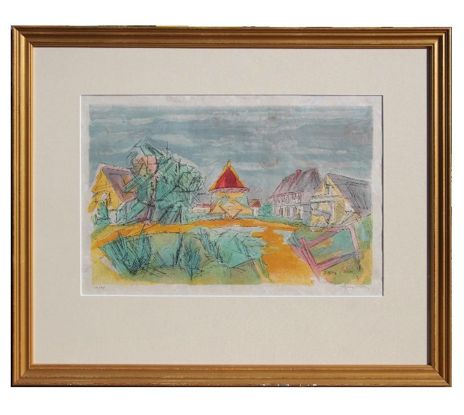 """""""Les Pigonnier Normand"""" Cubist / Impressionist Townscape"""