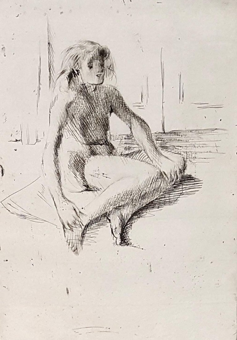 Little Girl - Original Etching Handsigned Numbered - 30 copies - Print by Jacques Villon