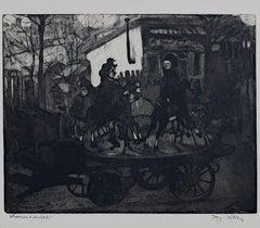 """""""Manege rue Caulaincourt ou Le Petit Manege Aux Chevaux De Bois,"""" Jacques Villon"""