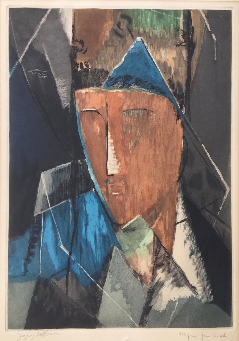 PORTRAIT d'HOMME (after Jean Crotti) - Cubist Print by Jacques Villon