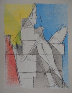 Reading Man - Original lithograph (Mourlot)