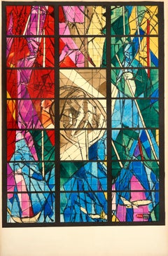 Vitraux (Stained Glass) by Jacques Villon - colorful lithograph