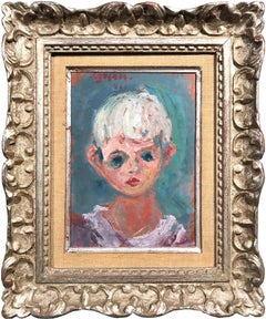 Portrait of a Young Girl, Impressionistic Oil Painting