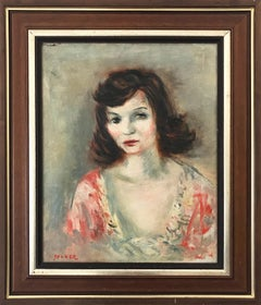 """Portrait of a Young Lady"" Post-Impressionism French Oil Painting on Canvas"