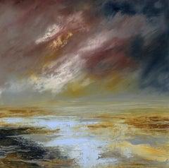 Jacqui Bassett, Estuary Storm, Original abstract painting
