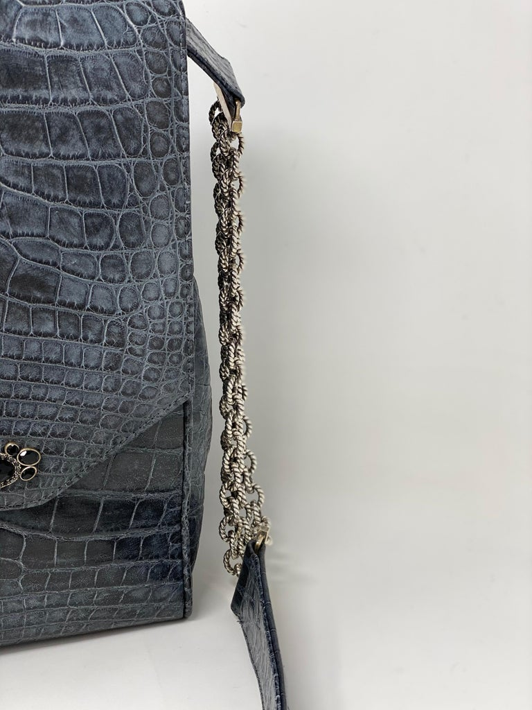Jada Loveless Crocodile Bag In New Condition For Sale In Athens, GA