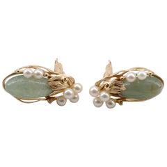 Jade and Pearl Earrings from Ming's Hawaii