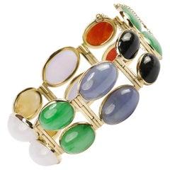 Jade Bracelet a Showcase of Natural Jade Colors