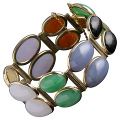 Jade Bracelet Multicolor Certified Untreated