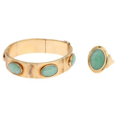 Jade Bracelet & Ring Set by Knud Heji