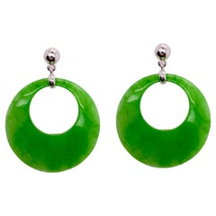 Jade Circle Earrings