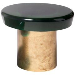 Jade Coffee Table Height by Draga & Aurel Resin and Brass, 21st Century