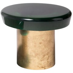Jade Coffee Table Hight by Draga & Aurel Resin and Brass, 21st Century