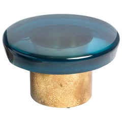 Jade Coffee Table Low by Draga & Aurel Resin and Brass, 21st Century
