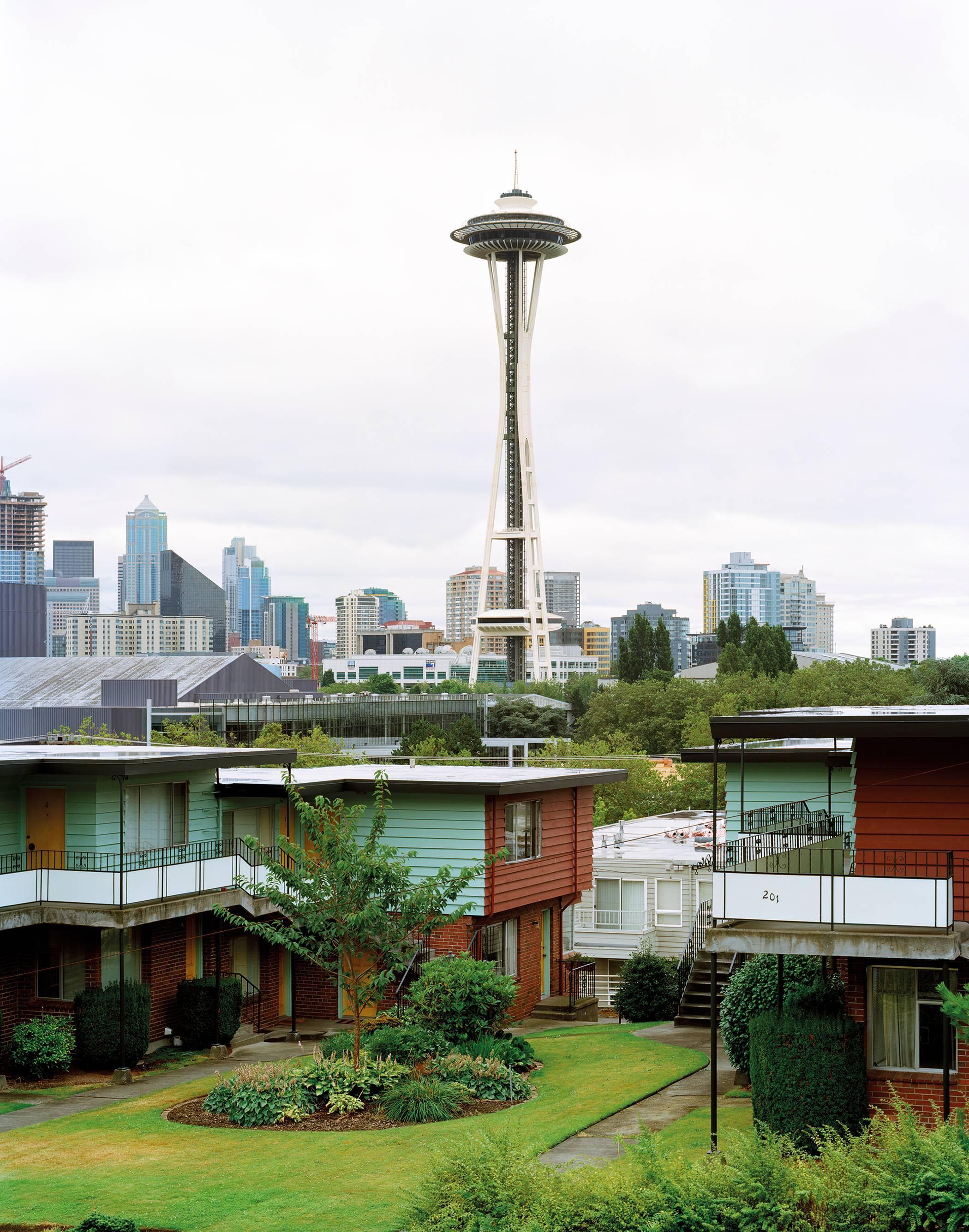 """Seattle 1962 World's Fair, """"The Century 21 Exposition,"""" Space Needle 38""""x30"""""""
