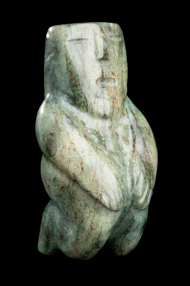 Jade figure is an original Olmecs-style piece.