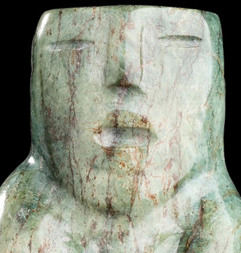 Jade Figure Olmec-Style, Mexico In Good Condition For Sale In Roma, IT