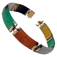 Jade Gold Bracelet, 20th Century