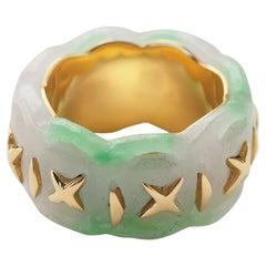 Jade Gold Ring