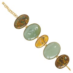 Jade Jasper Bronze Bracelet