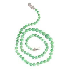 Jade Necklace Art Deco Classic