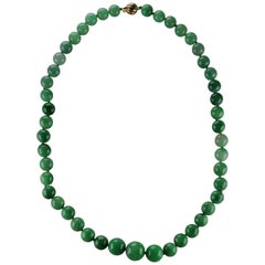 Jadeite Necklace of Exceptional Color & Quality