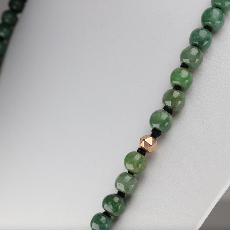 Jade Necklace Untreated Handmade Ruggedly Unique For Sale 6